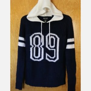 Wet Seal Varsity Number style Hoodie Sweatshirt